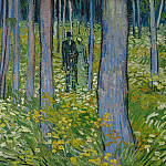 Undergrowth with Two Figures, Vincent van Gogh