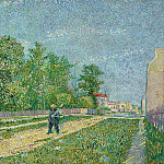 Vincent van Gogh - Man with Spade in a Suburb of Paris