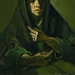Woman with a Mourning Shawl, Vincent van Gogh