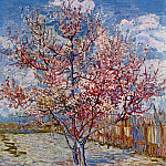 Peach Tree in Bloom , Vincent van Gogh