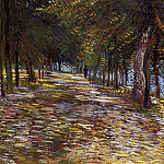 Avenue in Voyer dArgenson Park at Asnieres, Vincent van Gogh