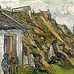 Old Cottages, Chaponval, Vincent van Gogh