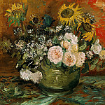 Still Life with Roses and Sunflowers, Vincent van Gogh