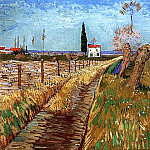 Path Through a Field with Willows, Vincent van Gogh