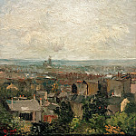 View of Paris from Montmartre, Vincent van Gogh