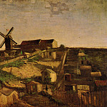 View of Montmartre with Windmills, Vincent van Gogh