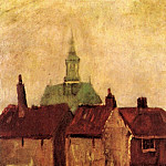 Old Houses with the New Church in The Hague, Vincent van Gogh