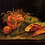 Still Life with Apples, Meat and a Roll, Vincent van Gogh