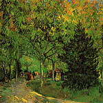 A Lane in the Public Garden at Arles, Vincent van Gogh