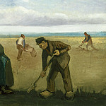 Farmers Planting Potatoes, Vincent van Gogh