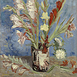 Vase with Gladioli, Vincent van Gogh