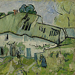 Farmhouse with Two Figures, Vincent van Gogh