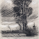 Landscape in Stormy Weather, Vincent van Gogh