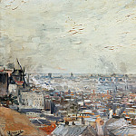 Vincent van Gogh - The View from Monmartre