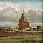 Old Tower at Nuenen with a Ploughman, Vincent van Gogh