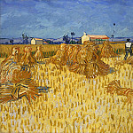 Harvest in Provence, Vincent van Gogh