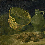 Still-Life with Brass Cauldron and Jug, Vincent van Gogh