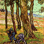 Two Diggers Among Trees, Vincent van Gogh