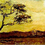 A Wind-Beaten Tree, Vincent van Gogh