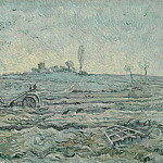 The Plough and the Harrow , Vincent van Gogh