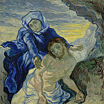 Pieta after Delacroix, Vincent van Gogh