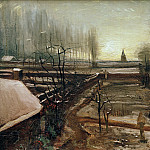 The Parsonage Garden at Nuenen in the Snow, Vincent van Gogh