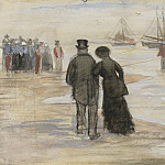 THE BEACH AT SCHEVENINGEN, Vincent van Gogh
