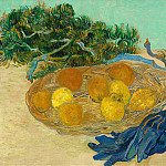 Still Life with Oranges and Lemons with Blue Gloves, Vincent van Gogh