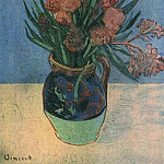 Vase with Oleanders, Vincent van Gogh