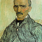 Portrait of Trabuc, an Attendant at Saint-Paul Hospital, Vincent van Gogh