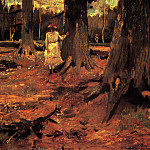 Girl in White in the Woods, Vincent van Gogh