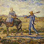 Morning - Peasants Going to Work, Vincent van Gogh