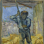 Vincent van Gogh - The Thresher (after Millet)