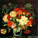Vase with Carnations, Vincent van Gogh