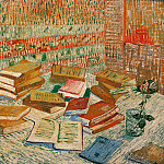 Vincent van Gogh - Still Life - French Novels and Rose