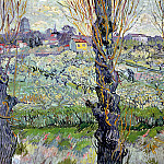 Orchard in Blossom with View of Arles, Vincent van Gogh