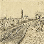 Landscape with Path and Pollard Trees, Vincent van Gogh