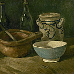 Still-Life with Earthenware and Bottles, Vincent van Gogh