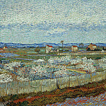 La Crau with Peach Trees in Bloom, Vincent van Gogh