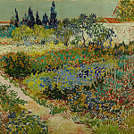 Flowering Garden with Path, Vincent van Gogh