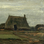 Farm with Stacks of Peat, Vincent van Gogh