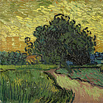 Landscape at Twilight, Vincent van Gogh
