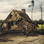 Cottage with Peasant Coming Home, Vincent van Gogh