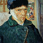 Self-Portpait with Bandaged Ear, Vincent van Gogh