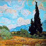Wheat Field with Cypresses, Vincent van Gogh