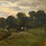 Pasture with cows, Vincent van Gogh