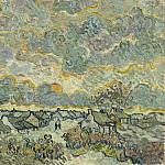 Vincent van Gogh - Cottages and Cypresses - Reminiscence of the North Brabant