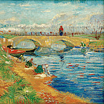 The Gleize Bridge over the Vigueirat Canal, Vincent van Gogh