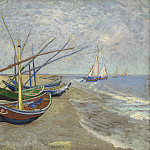 Fishing Boats on the Beach at Les Saintes-Maries, Vincent van Gogh