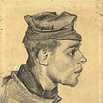 Vincent van Gogh - Head of a Young Peasant